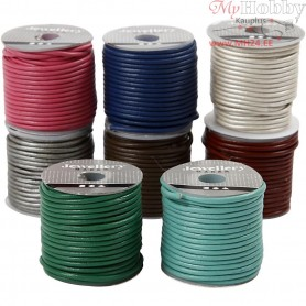 Leather Cord, thickness 2 mm, 8x10m