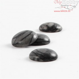 Cabochons , D: 14 mm, thickness 5 mm, snowflake, 4pcs