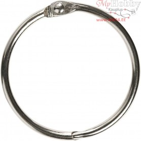 Book Ring, inner size 38 mm, thickness 3 mm, 8pcs