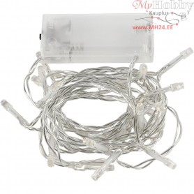 LED String of Lights, L: 3,15 m, transparent, 1pc