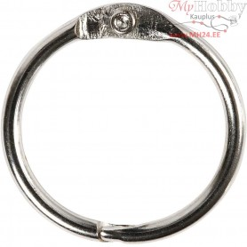 Book Ring, inner size 19 mm, thickness 2 mm, 10pcs