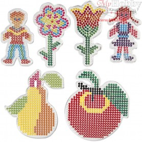 Peg Board, size 8,5x14-14x16 cm, Children and Flowers, 6mixed