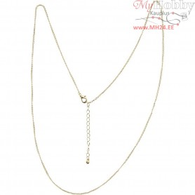 Chain, L: 80 cm, D: 1 mm, gold-plated, 1pc