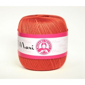 Cotton Yarn Madame Tricote / Maxi 100 - Colour 4910 (Lihgt red)