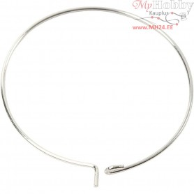 Beading Hoops, D: 30 mm, silver-plated, 6pcs