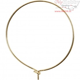 Beading Hoops, D: 30 mm, gold-plated, 6pcs
