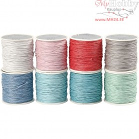 Cotton Cord, thickness 1 mm, asstd colours, 8x40m