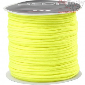 Polyester Cord, thickness 1 mm, neon yellow, 28m