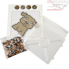 Fuse Beads - Starter Kit, size 5x5 mm, hole size 2,5 mm, asstd colours, dog, 1set