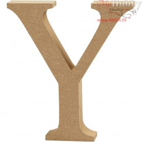 Letter, Y, H: 8 cm, thickness 1,5 cm, MDF, 1pc