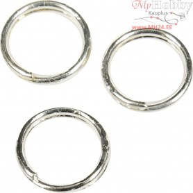 Split Ring, D: 5 mm, inner size 4 mm, silver-plated, 30pcs