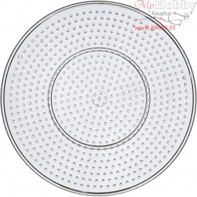 Peg Board, D: 15 cm, transparent, Large round, 1pc