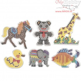 Peg Board, size 10x11-13x16,5 cm, different animals, 6mixed
