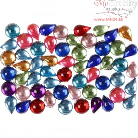 Rhinestones, size 5-6 mm, 1001 night, 15g