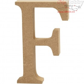 Letter, F, H: 8 cm, thickness 1,5 cm, MDF, 1pc