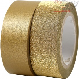 Design Tape, W: 15 mm, gold, 2rolls