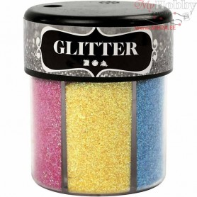 Glitter, asstd. colours, 6x13g