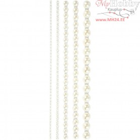Half Pearls, size 2-8 mm, white, 140mixed
