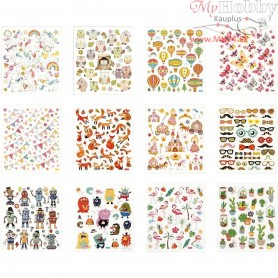 Sticker Book, sheet 15x16,5 cm, all year, 12sheets