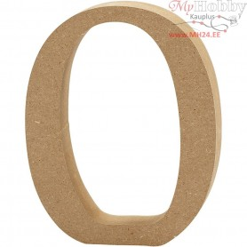 Letter, O, H: 8 cm, thickness 1,5 cm, MDF, 1pc