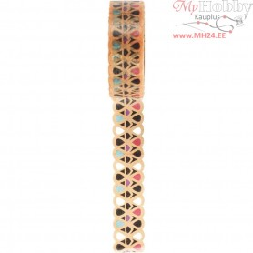 Lace Washi Tape, W: 15 mm, 5m