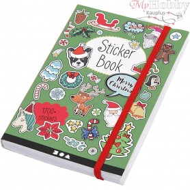 Sticker Book, size 11,5x17 cm, thickness 1,5 cm, christmas motifs - 76 sheets, 1pc, approx. 1700 pc