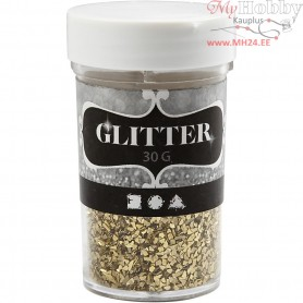 Glitter, size 1-3 mm, gold, 30g