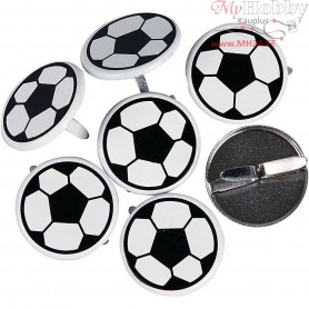 Deco Rivets, D: 20 mm, Footballs, 30pcs