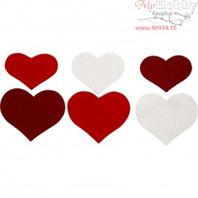 Hearts, H: 35+40+50 mm, thickness 1,5 mm, 225mixed, 180-200 g/m2