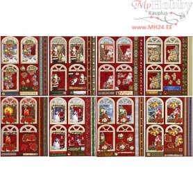 3D Decoupage Tags, size 24x19 cm, Christmas, 16sheets