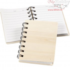 Note Book, size 8,5x11 cm, plywood, 10pcs
