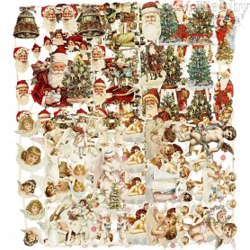Vintage Die-Cuts, sheet 16,5x23,5 cm, Christmas, 30mixed sheets