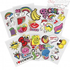Soft Stickers, sheet 12,2x17,75 cm, 8sheets