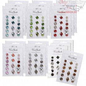 Deco Rivets, size 8-18 mm, 20x16pcs