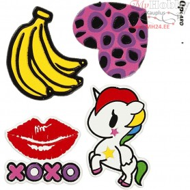 Soft Stickers, sheet 12,2x17,75 cm, XOXO, 1sheet