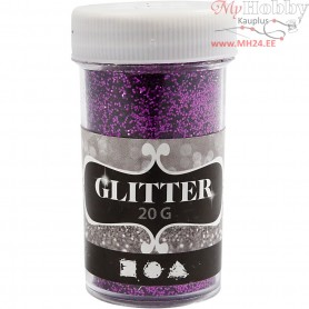 Glitter, D: 35 mm, H: 60 mm, purple, 20g