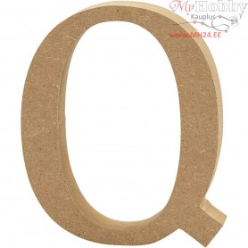 Letter, Q, H: 13 cm, thickness 2 cm, MDF, 1pc