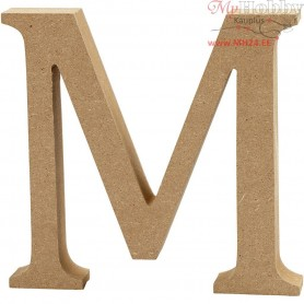 Letter, M, H: 13 cm, thickness 2 cm, MDF, 1pc