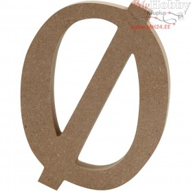 Letter, Ƙ, H: 13 cm, thickness 2 cm, MDF, 1pc