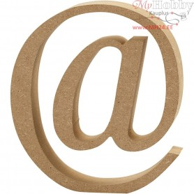 Symbol, @, H: 13 cm, thickness 2 cm, MDF, 1pc