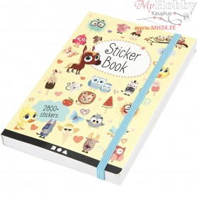 Sticker Book, size 11,5x17 cm, thickness 1,5 cm, 1pc, 80 pages