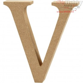 Letter, V, H: 13 cm, thickness 2 cm, MDF, 1pc