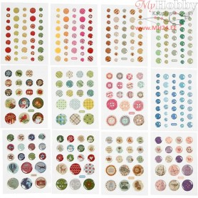 Stickers, D: 6-13 mm, 12packs
