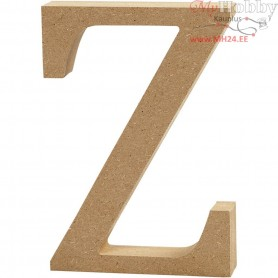 Letter, Z, H: 13 cm, thickness 2 cm, MDF, 1pc