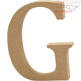 Letter, G, H: 13 cm, thickness 2 cm, MDF, 1pc
