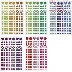 Mosaic Stickers, D: 8-14 mm, sheet 11x16,5 cm, asstd colours, 10sheets