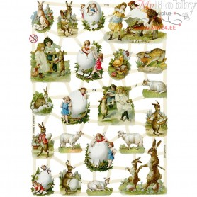 Vintage Die-Cuts, sheet 16,5x23,5 cm, country easter, 3sheets