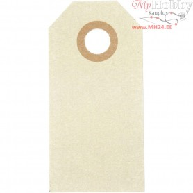 Manilla Tags, size 3x6 cm,  250 g, natural, 30pcs