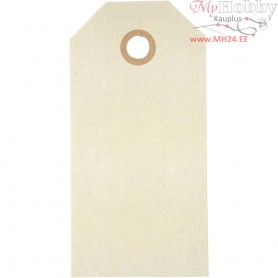 Manilla Tags, size 5x10 cm,  250 g, natural, 20pcs
