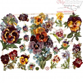 Vintage Die-Cuts, sheet 16,5x23,5 cm, flowers, 3sheets